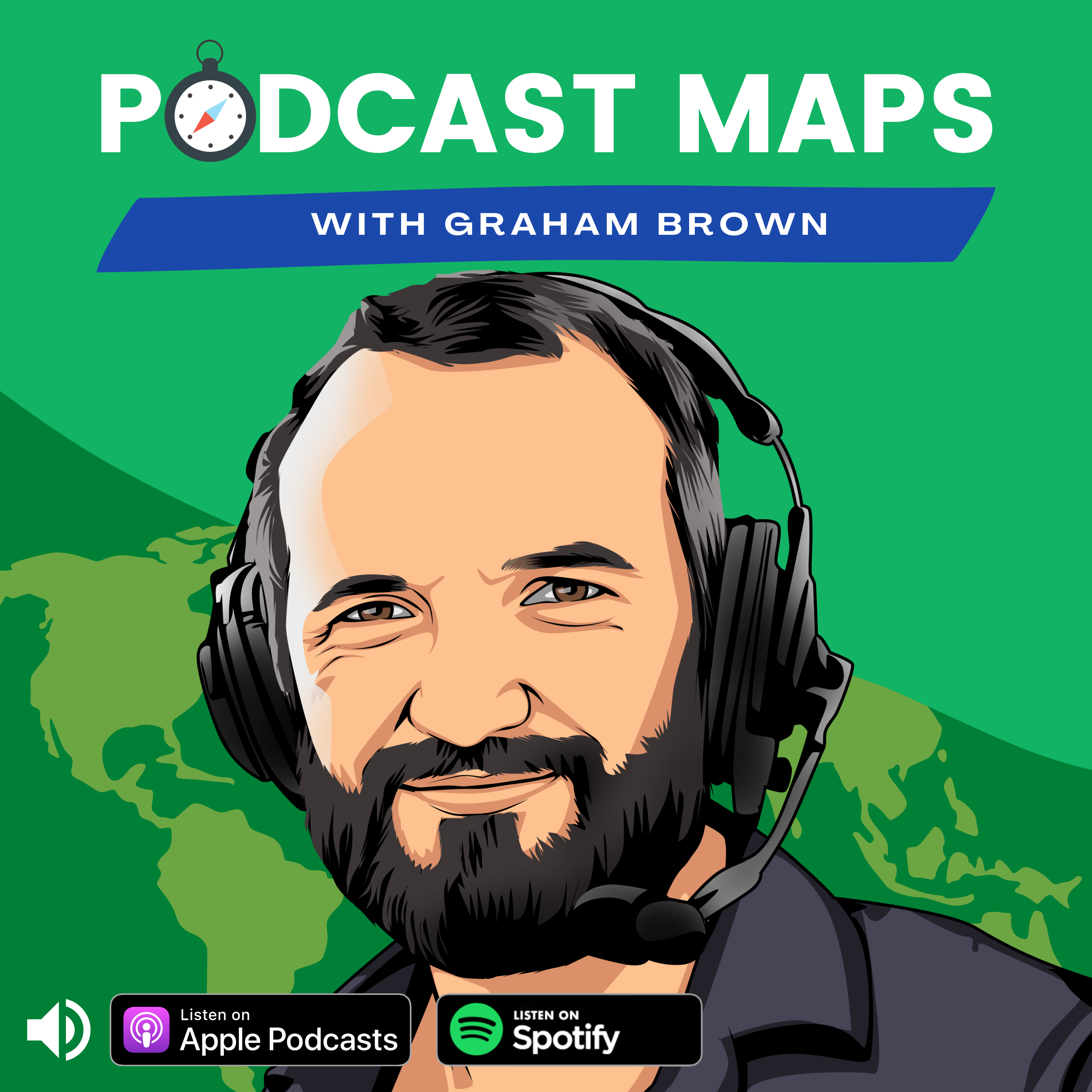 Podcast Maps by Graham Brown